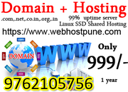 Web Hosting Sale Offer 999 only domain free Web Host Pune