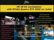 HP Z8 G4 workstation  with NVidia Quadro RTX 4000 on rental